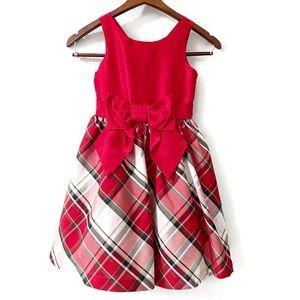 Gymboree Red Plaid Christmas Dress Bow Size 6